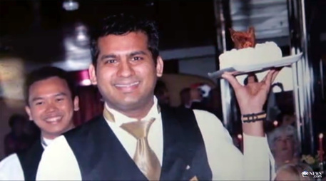 Russel Rebello waiter Cota Concordia Ship