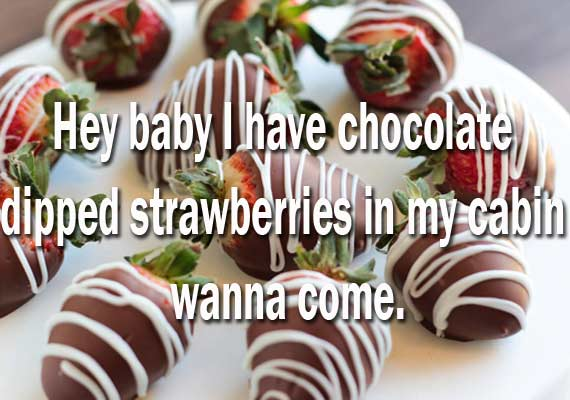 strawberries pickup line on cruise